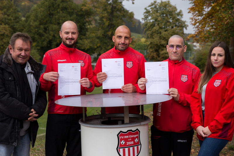 Drei neue Trainer mit Lizenz beim FV Rot-Weiß Ebingen