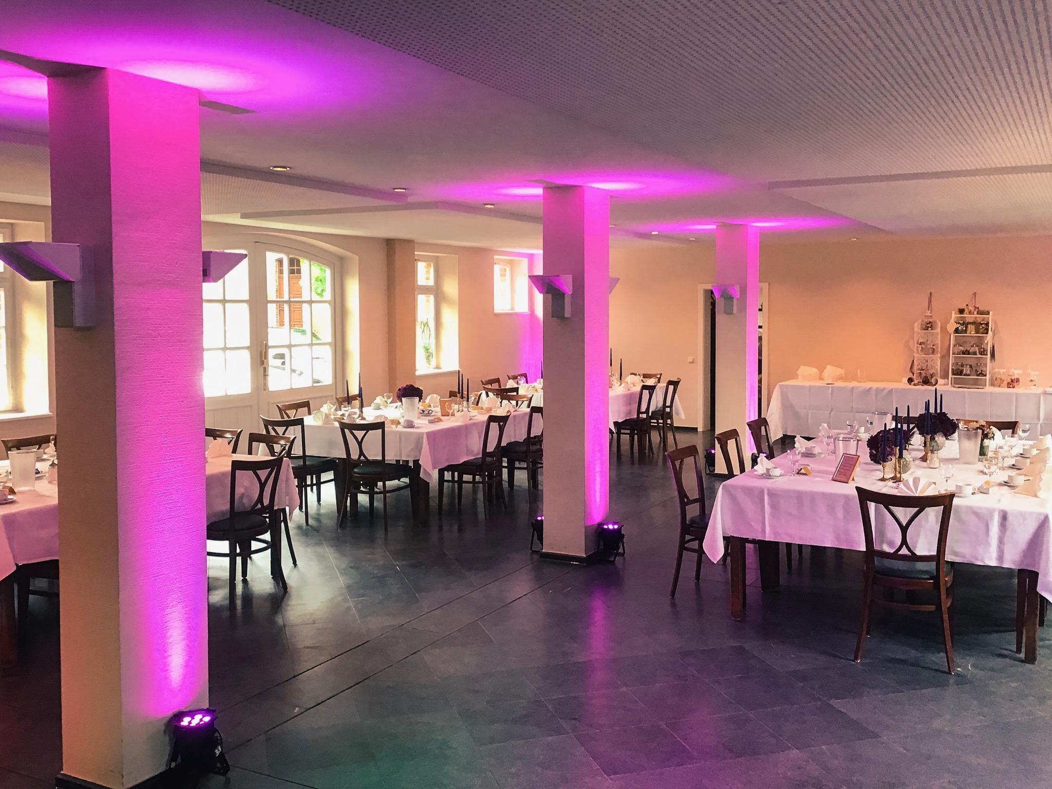 Saalbeleuchtung mit LED-Scheinwerfern