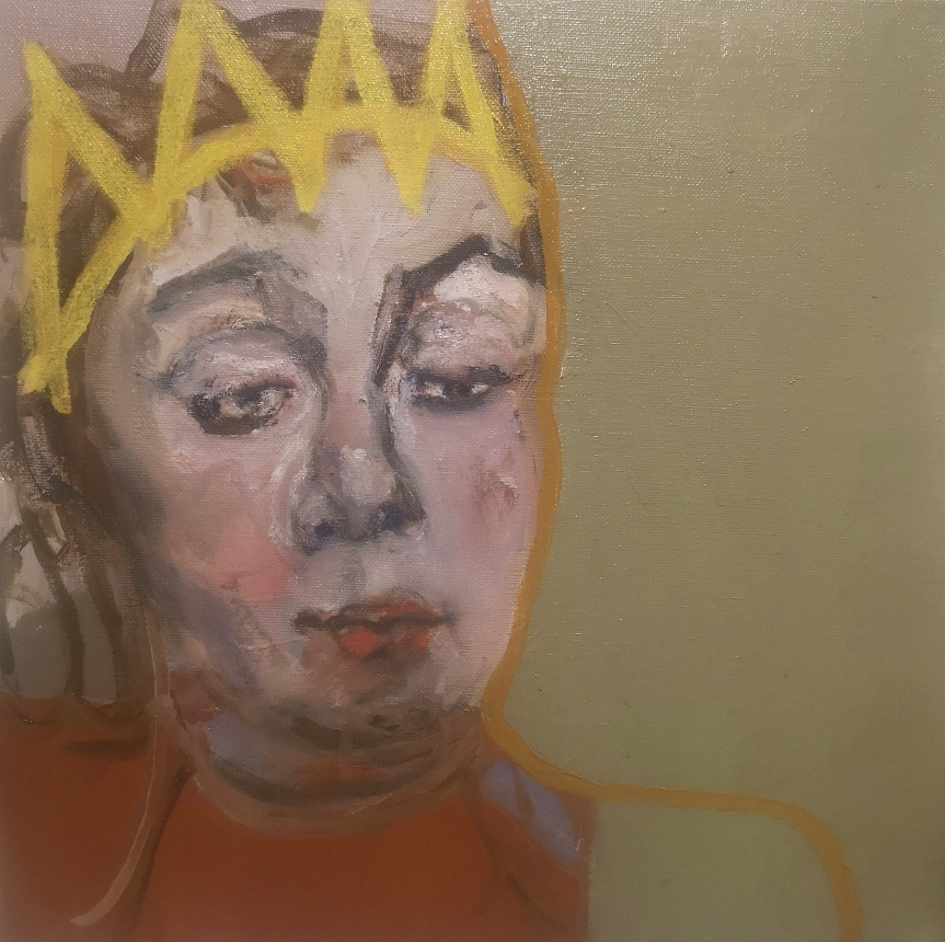 'Somewhere a king has no wife' - Oil on linen canvas - 30x30cm - 2021