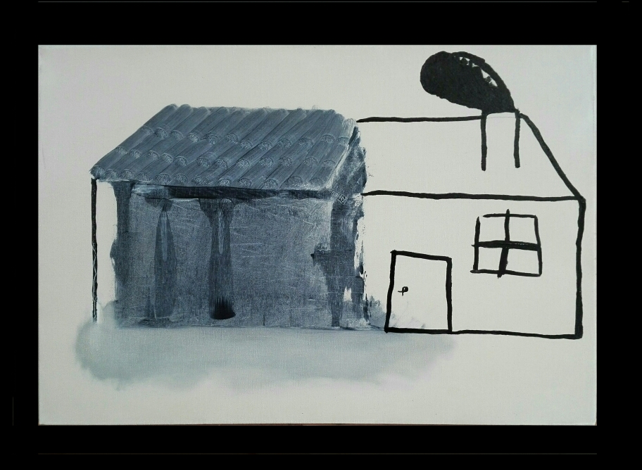 SOLD - 'House' or  'Renovation project'- Oil on linen canvas - 38x55cm - 2020