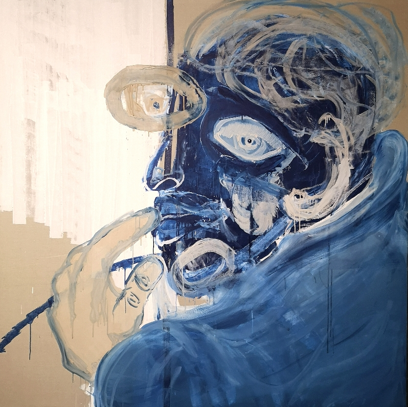 SOLD - 'Jean /John' - Acrylic on linen canvas - 200x200cm - 2021