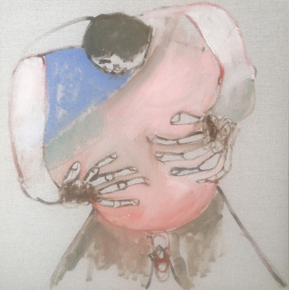 'Conceive a man' - Oil on linen canvas - 50x50cm - 2021