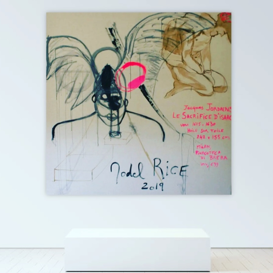 SOLD - 'The Sacrifice of Isaac' - Acrylic on linen canvas - 200x200cm - 1019