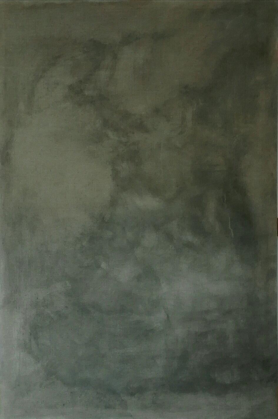 «A REAL SFUMATO» 150x100cm, 2019, graphite on natural linen canvas