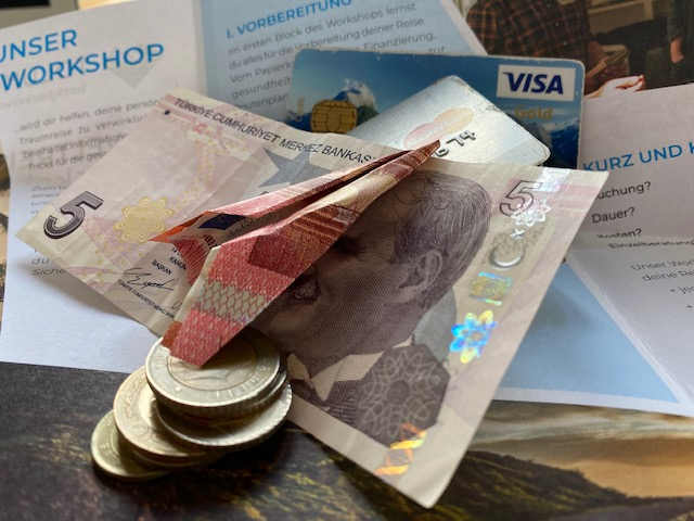 Vor der Reise für die Reise Sparen