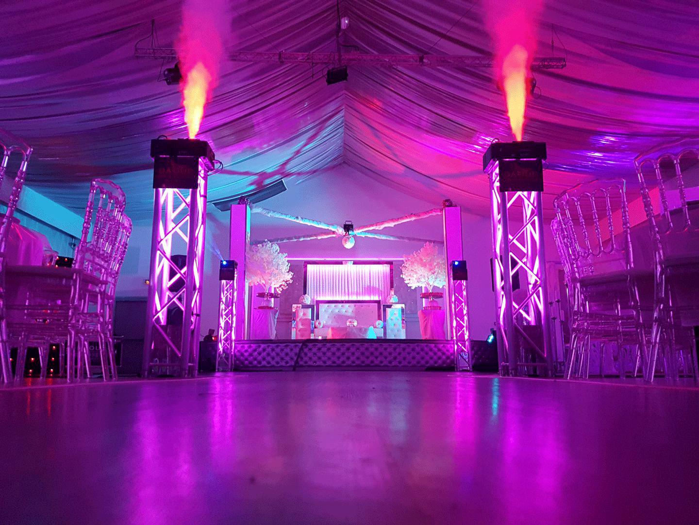 Eclairage salle de mariage
