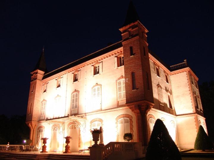 Eclairage château ambre