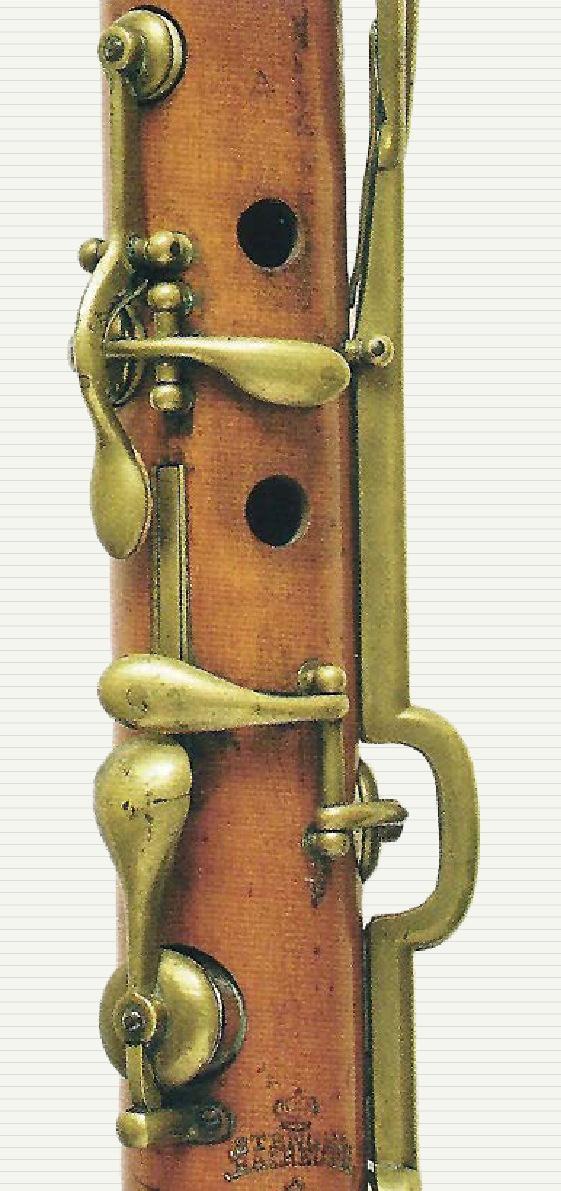 Tarjeta exposición de clarinetes antiguos