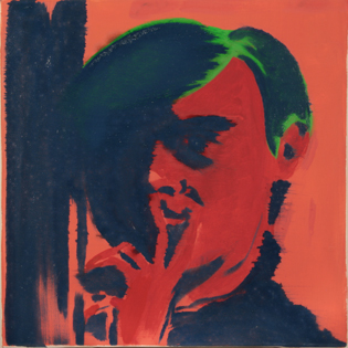 Andy Warhol,  oil on canvas, 40 x 40 cm, 1997