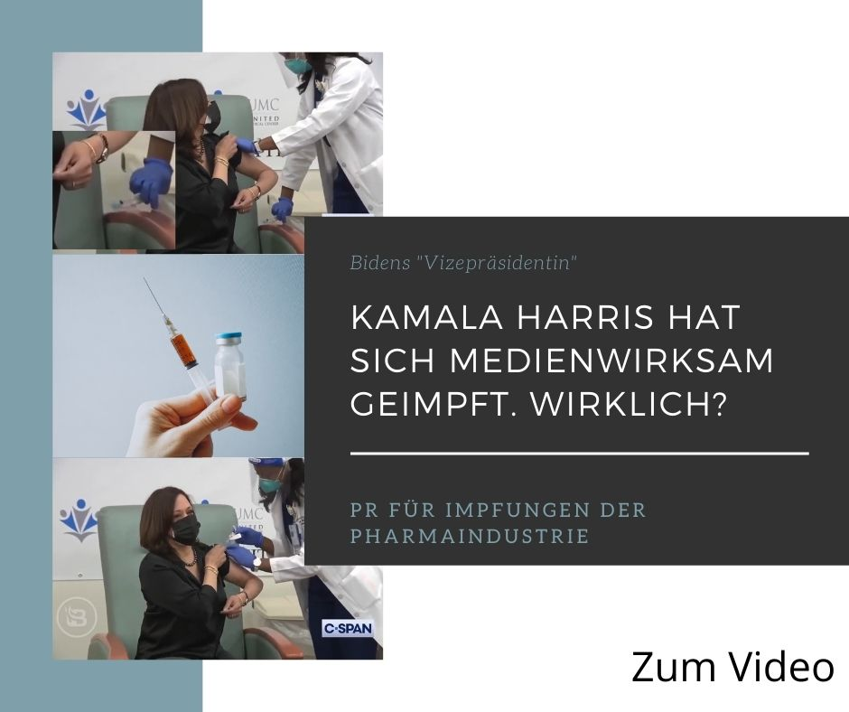 """Bidens """"Vizepräsidentin"""" Kamala Harris hat sich medienwirksam impfen lassen. Ist das wirklich wahr?"""