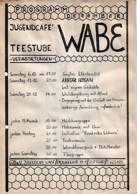 70´er: Jugendcafé Teestube Wabe