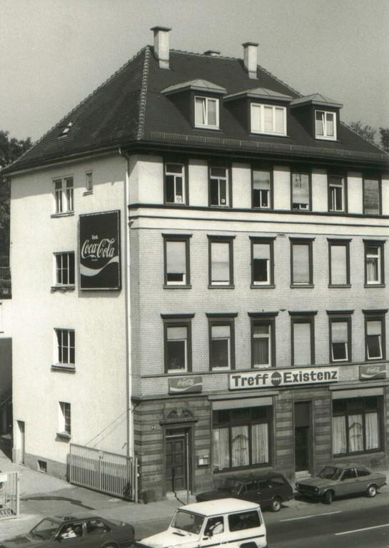 80`er: Treffpunkt Existenz Neckarstraße 63 (trotz Denkmalschautz für Stuttgart 21 abgerissen !)