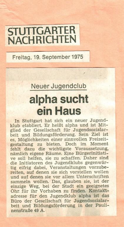 70´er: Jugendclub Alpha