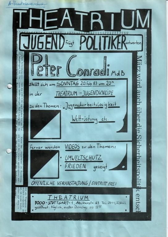 80´er: Theatrium Jugend fragt - Politiker antworten