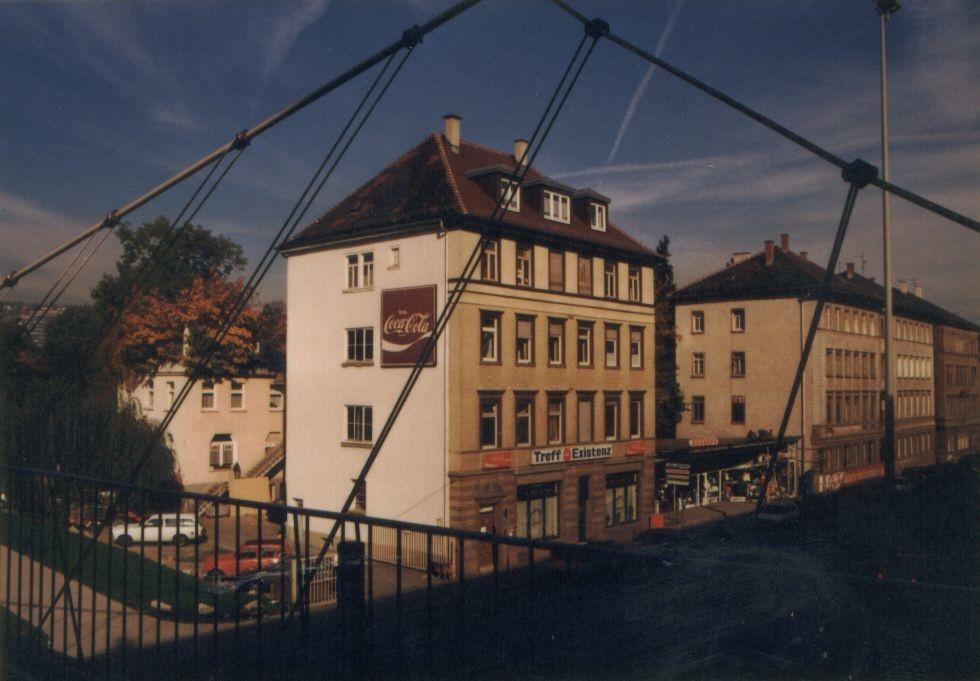 80´er: Jugendarbeitslosenzentrum Neckarstraße 63 (trotz Denmalschutz für Stuttgart 21 abgerissen !)