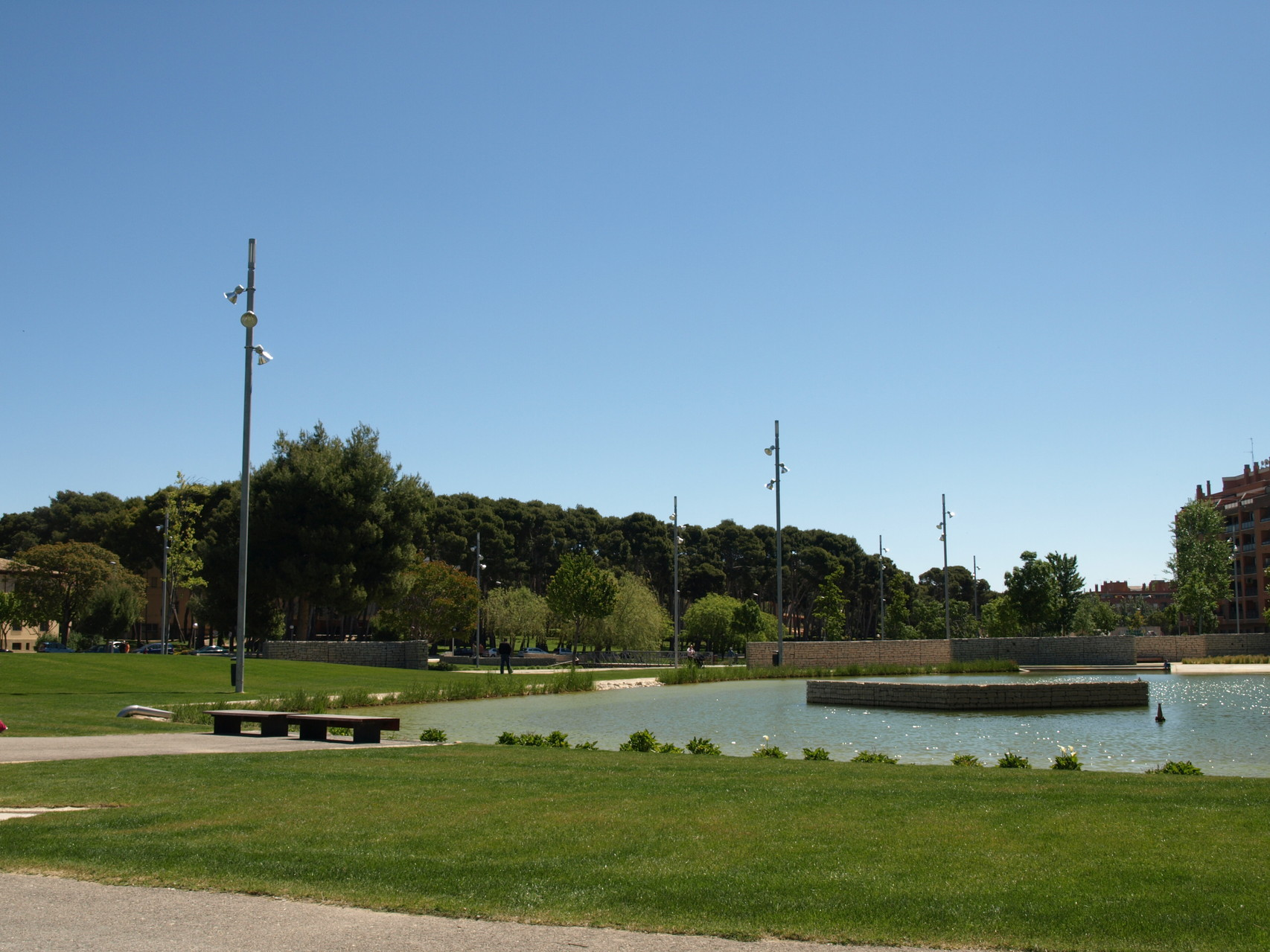 Zonas verdes en Huesca