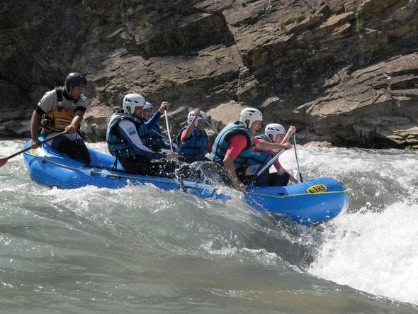 Rafting en el reino de los mallos