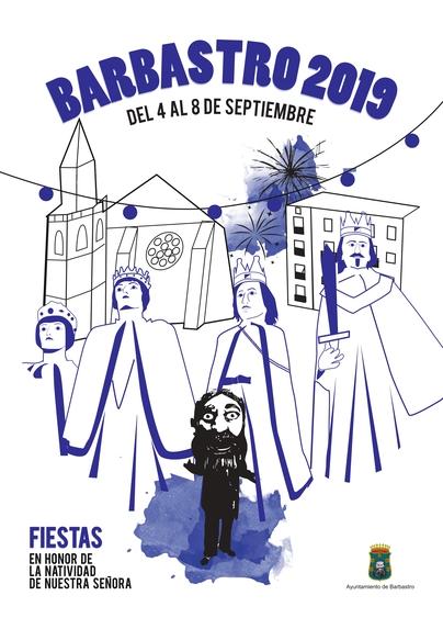 cartel fiestas barbastro 2019