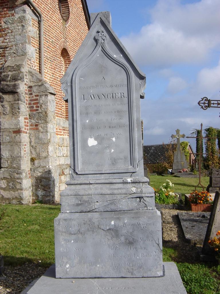 La tombe de JB Lavancier