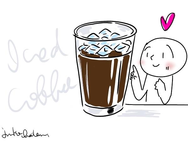 アイスコーヒーイラスト 茶谷順子