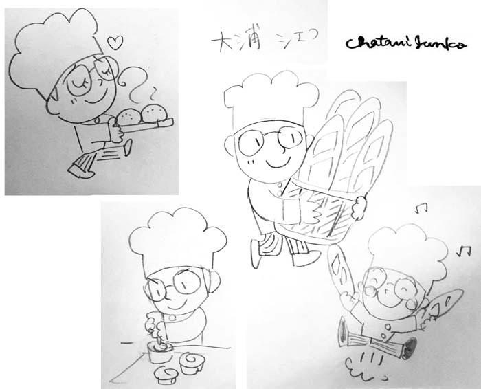BreadCraftオオウラの店主のイメージキャラクター