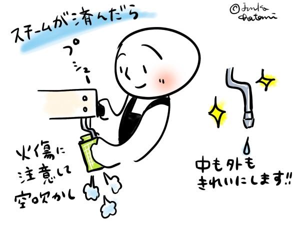 スチームノズル拭き掃除 イラスト 茶谷順子