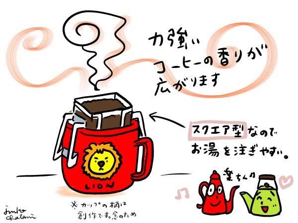 ドリップパック式コーヒー 茶谷順子 コーヒーイラスト