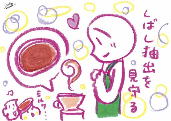 茶谷順子 イラスト 牛乳でドリップイラスト