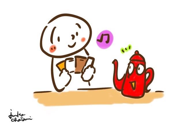 コーヒー器具イラスト コーヒーポット 茶谷順子 ドリップパックイラスト
