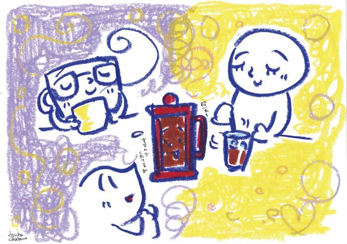プレスのコーヒー