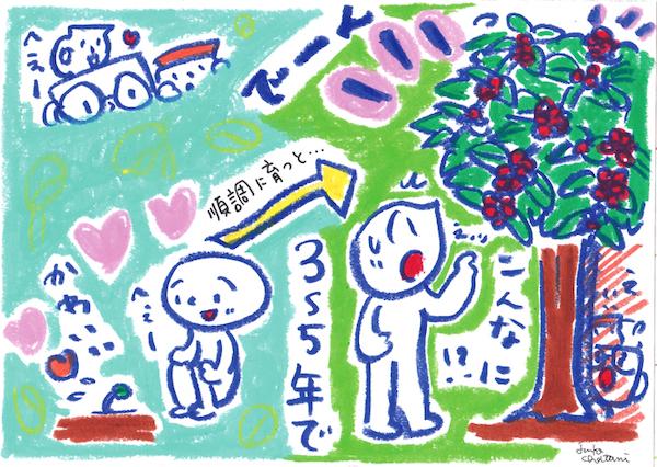 コーヒーの木 コーヒーイラスト 茶谷順子