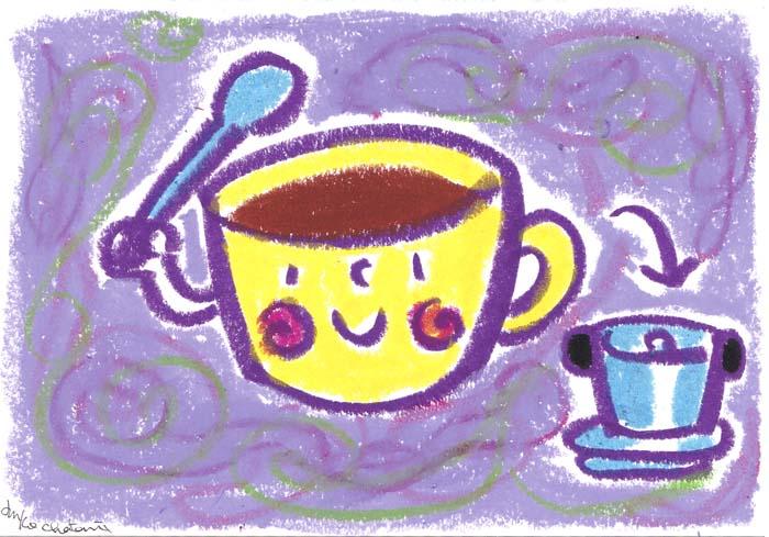 コーヒーイラスト 茶谷順子 ベトナムコーヒー