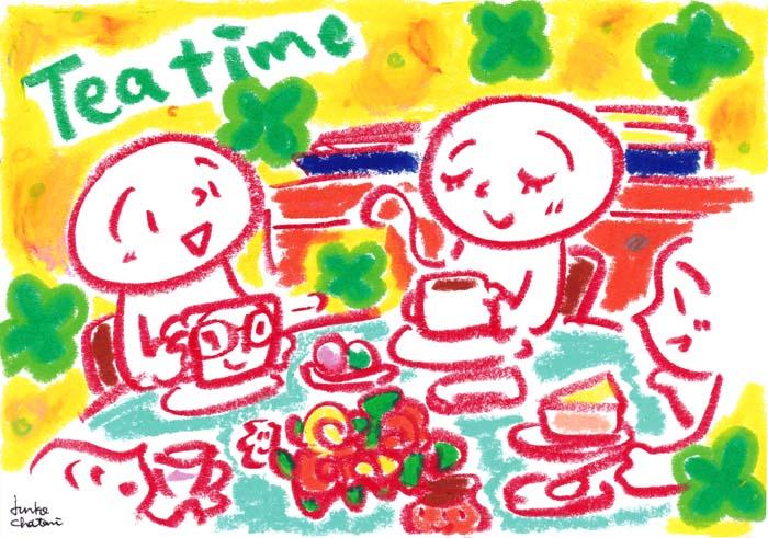 ホームパーティー イラスト 茶谷順子