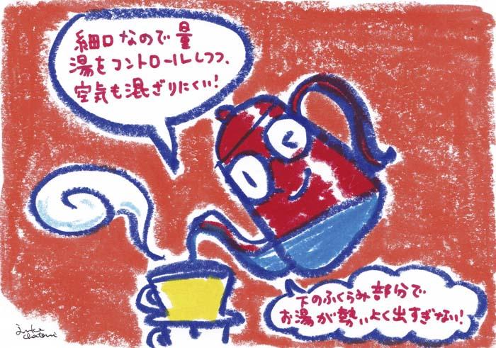 細口ポット 茶谷順子 コーヒーグッズ イラスト