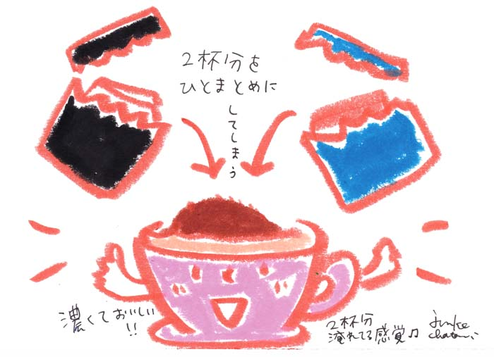 カップオンタイプのコーヒー コーヒーイラスト 茶谷順子