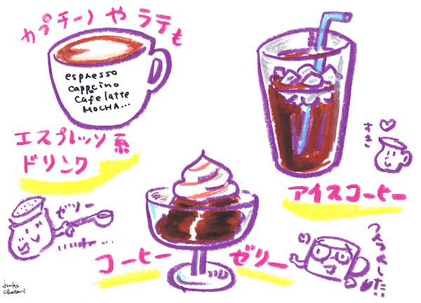 深煎り コーヒー器具イラスト 茶谷順子