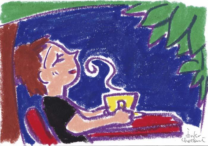 コーヒーいらスト 茶谷順子 ベトナムコーヒー