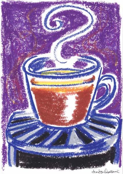 茶谷順子 イラスト カプセル型コーヒーマシン コーヒーイラスト