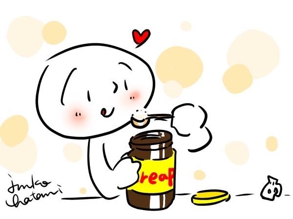 クリープを食べてるイラスト 茶谷順子