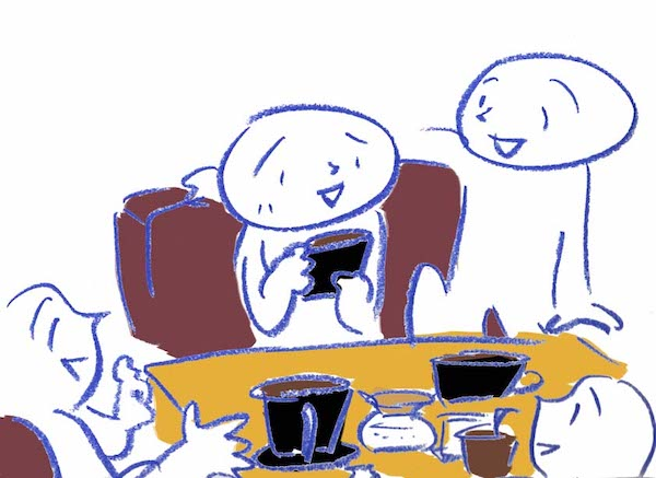 コーヒーイラスト 茶谷順子 カフェ