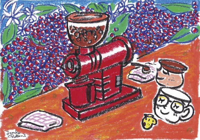 ミル 茶谷順子 コーヒーイラスト