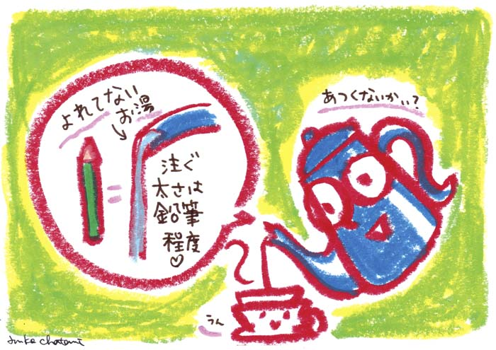 コーヒーイラスト 茶谷順子 ドリップ コーヒーポット