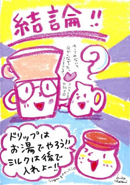 茶谷順子 コーヒーイラスト 牛乳ドリップの感想