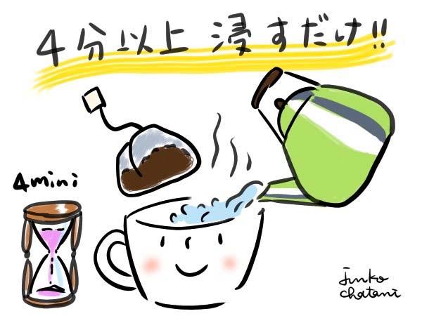 ティーパック式コーヒー 茶谷順子 コーヒーイラスト