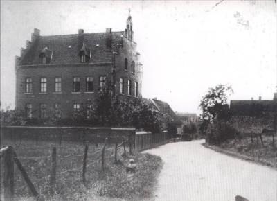 Das alte Krankenhaus an der Schöppinger Straße.Im Hintergrund die alte Leichenhalle,Haus Thoms,Wolbeck und Artmann