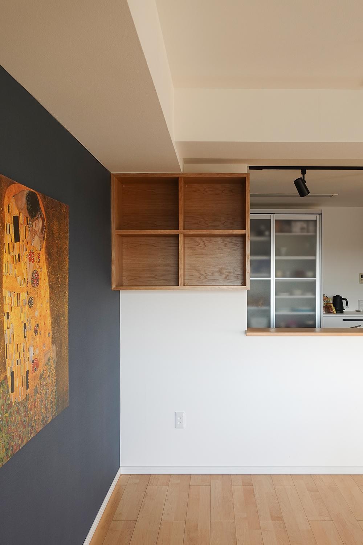 納品事例 ナラ材の本棚