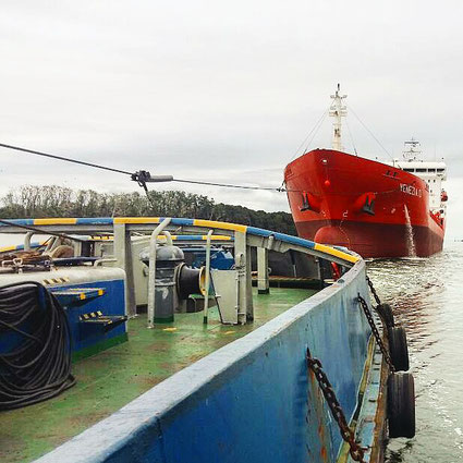 tugboat, Odissey, tanker, Venezia D