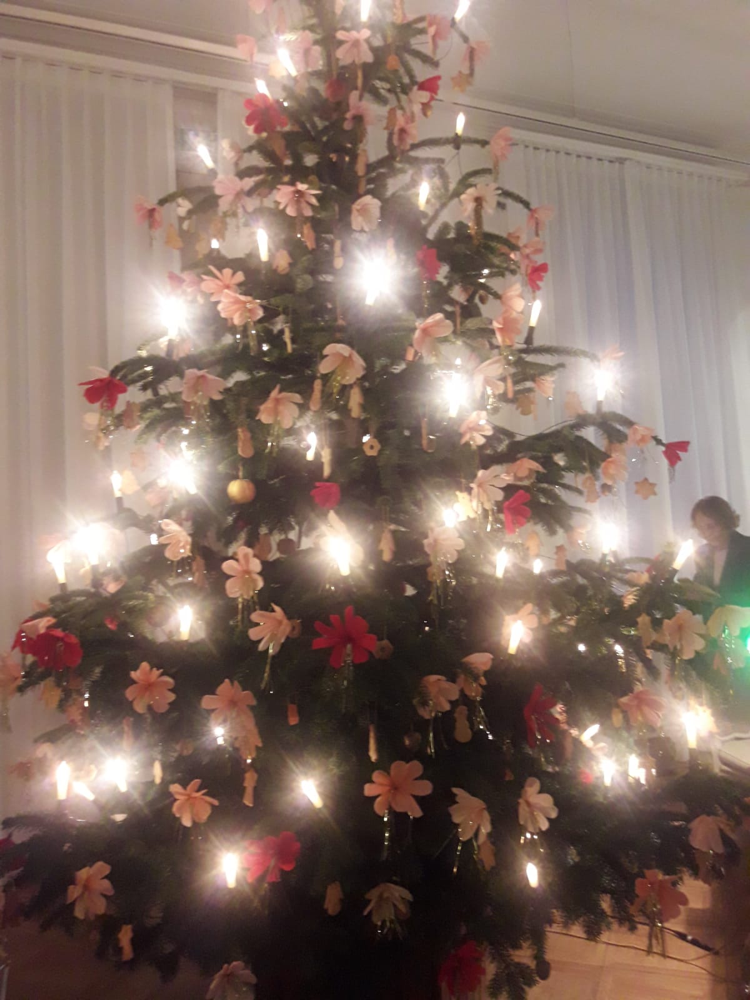 Der Weihnachtsbaum im Goethe Museum ゲーテ博物館のクリスマス・ツリー