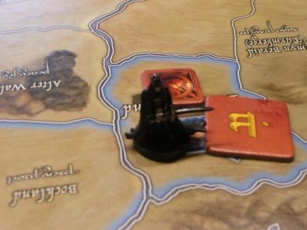 Der Hexenkönig mit einem Armeemarker im Auenland.