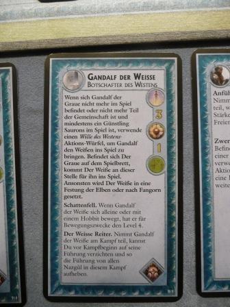 Die Personenkarte von Gandalf dem Weissen